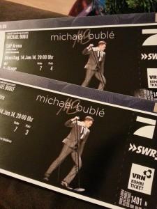Karten für Michael Bublé. Mein Held des Tages