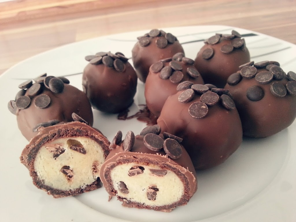 Cookie Dough Brownie Bombs