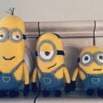 Gehäkelte Minions als Geburtstagsüberraschung