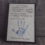 Geschenk für Oma und Opa – Handabdruck
