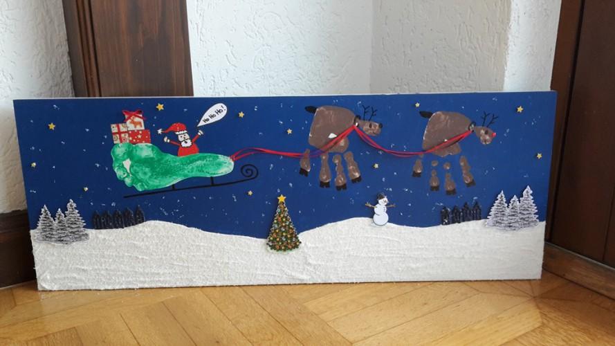 Geschenkidee Weihnachten Hand- und Fußabdruck