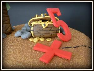 Piratentorte zum 5. Geburtstag