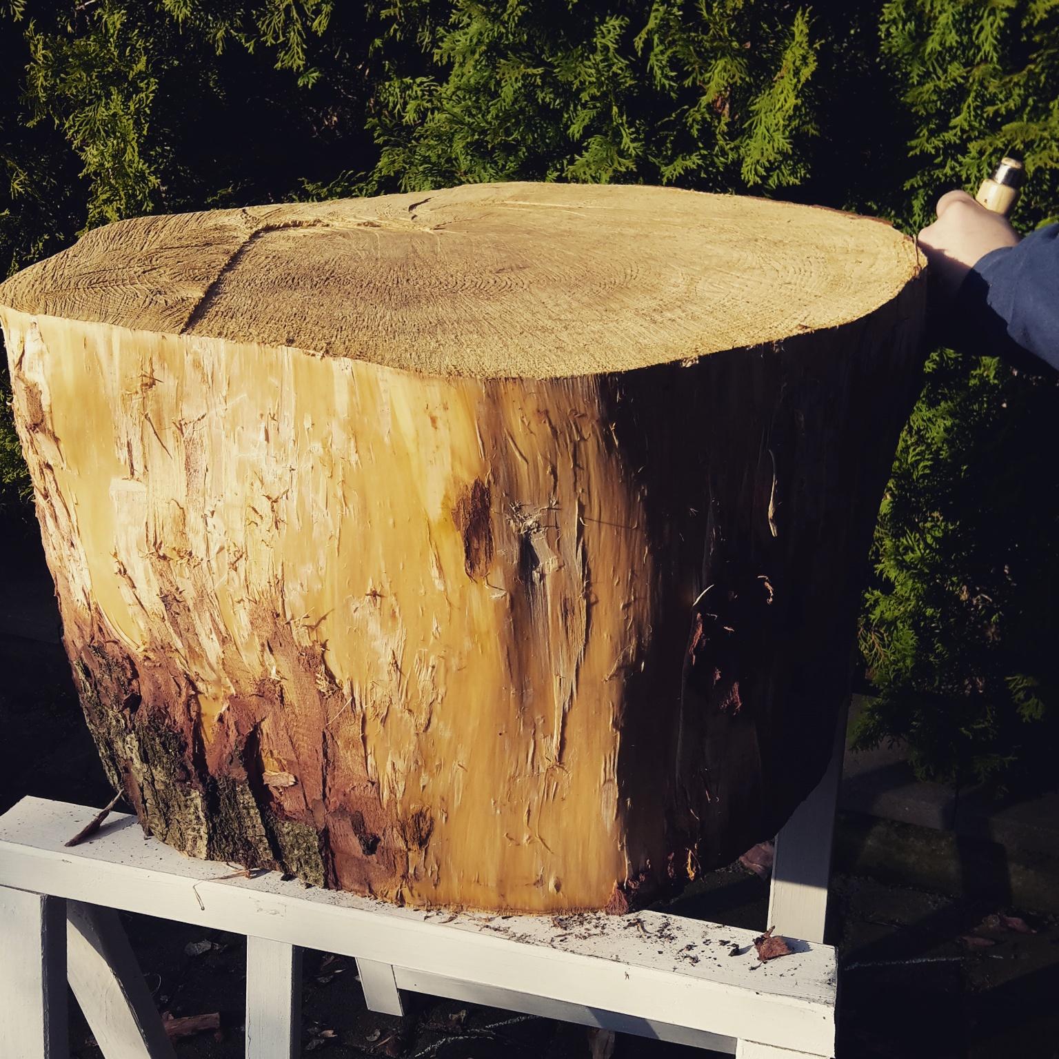 kunterbuntich » DIYProjekt Couchtisch aus Baumstamm