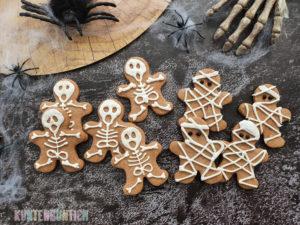 Halloweenkekse-Mumien und Skelette